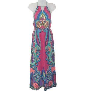Flying Tomato Paisley Print Halter Maxi Dress S
